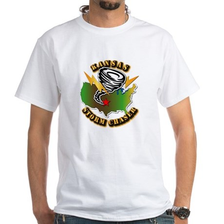 Storm Chaser - Kansas White T-Shirt