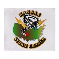 Storm Chaser - Kansas Throw Blanket