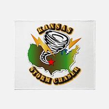 Storm Chaser - Kansas Throw Blanket