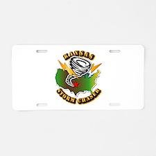 Storm Chaser - Kansas Aluminum License Plate