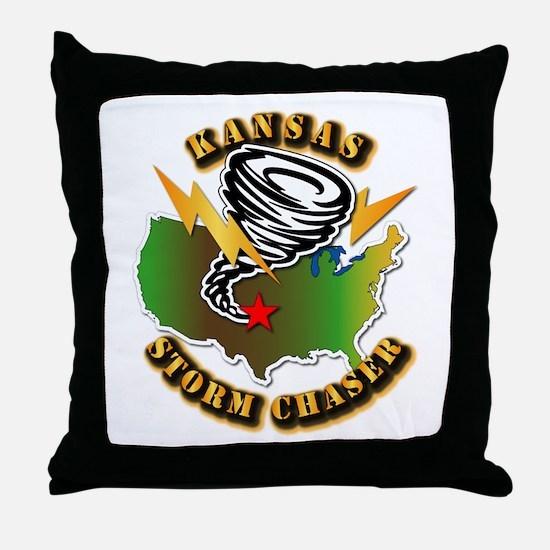 Storm Chaser - Kansas Throw Pillow