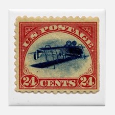 Rare Inverted Jenny Stamp Tile Coaster