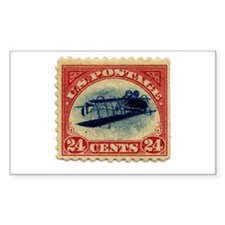 Rare Inverted Jenny Stamp Rectangle Decal