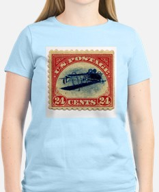 Rare Inverted Jenny Stamp Women's Pink T-Shirt