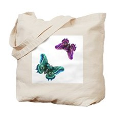 Purple and Teal Butterflies Tote Bag
