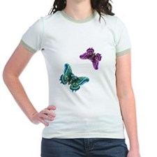 Purple and Teal Butterflies T