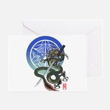 Dragon katana Uesugi Greeting Card
