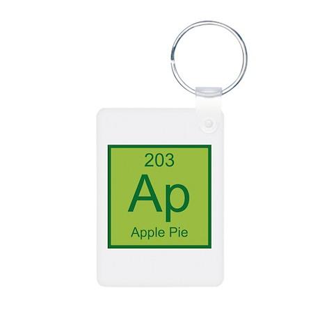 Apple Pie Aluminum Photo Keychain