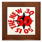 50 Is The New 30 Framed Tile