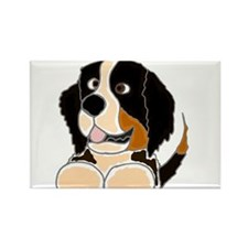 Cute Bermese Mountain Dog Rectangle Magnet