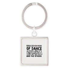 Rumba dance designs Square Keychain