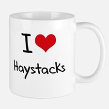 I Love Haystacks Small Small Mug