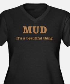 Mud It's beautiful Women's Plus Size V-Neck Dark T