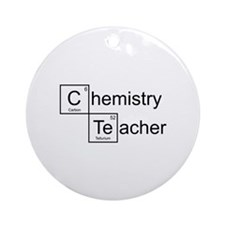 Chemistry Teacher Ornament (Round)