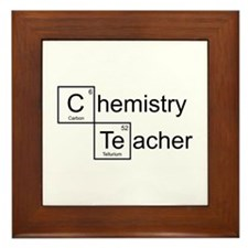 Chemistry Teacher Framed Tile