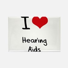 I Love Hearing Aids Rectangle Magnet