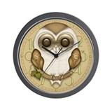 Baby owl Wall Clocks