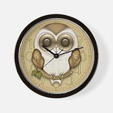 Cute Barn Owl Wall Clock