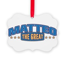 The Great Matteo Ornament