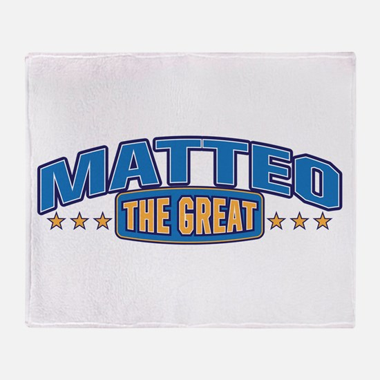 The Great Matteo Throw Blanket