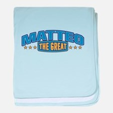 The Great Matteo baby blanket