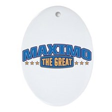 The Great Maximo Ornament (Oval)
