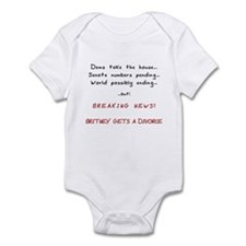 Breaking News Britney Infant Bodysuit