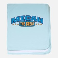 The Great Micah baby blanket