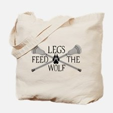 Lacrosse Legs Feed The Wolf Tote Bag