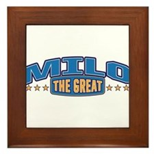 The Great Milo Framed Tile