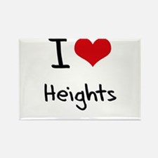 I Love Heights Rectangle Magnet