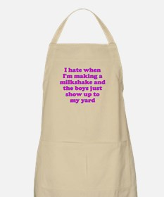 Hate making milkshake boys Apron