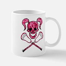 Lacrosse Pink Lady Digital Camo Skull Mug
