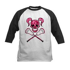 Lacrosse Pink Lady Digital Camo Skull Baseball Jer