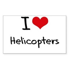 I Love Helicopters Decal