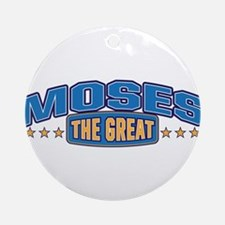 The Great Moses Ornament (Round)