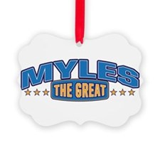 The Great Myles Ornament
