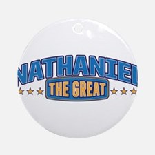 The Great Nathaniel Ornament (Round)