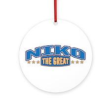 The Great Niko Ornament (Round)