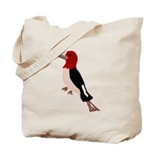 Artistic Red Headed Woodpecker Tote Bag