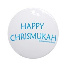Happy Chrismukah - Holiday Ornament (Round)