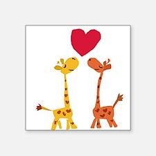 Funny Giraffe Love Sticker