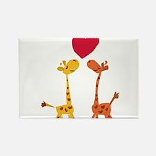 Funny Giraffe Love Rectangle Magnet