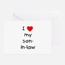 I love my son-in-law Greeting Cards (Pk of 10)