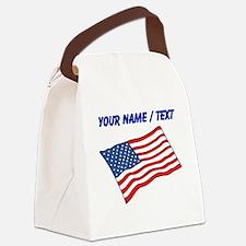 Custom American Flag Canvas Lunch Bag