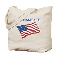 Custom American Flag Tote Bag