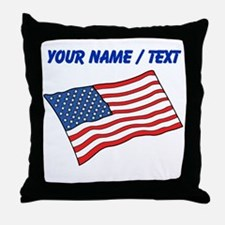 Custom American Flag Throw Pillow