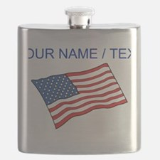 Custom American Flag Flask