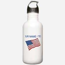 Custom American Flag Water Bottle