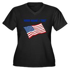 Custom American Flag Plus Size T-Shirt